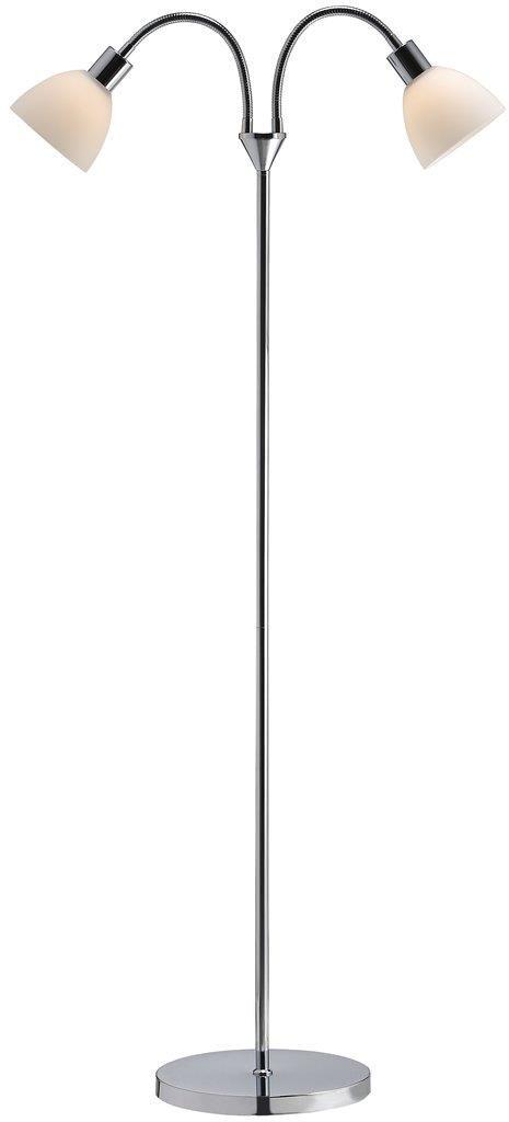 Lampa podłogowa Ray 63224033 Nordlux podwójna ruchoma oprawa w kolorze chromu