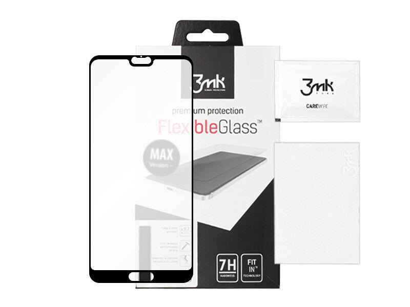 Huawei P20 - szkło hartowane 3MK FlexibleGlass Max