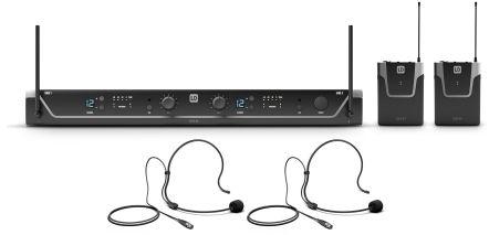 LD Systems U308 BPH 2 - Mikrofon bezprzewodowy nagłowny podwójny, 823-832 MHz + 863-865 MHz