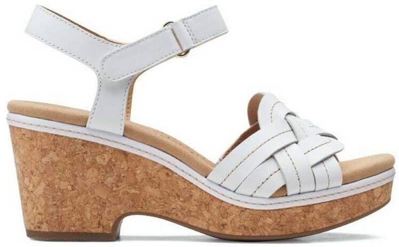 Sandały damskie Clarks Giselle Coast białe261582084