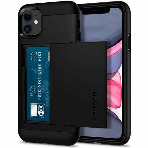 Etui Spigen Slim Armor CS iPhone 11, czarne