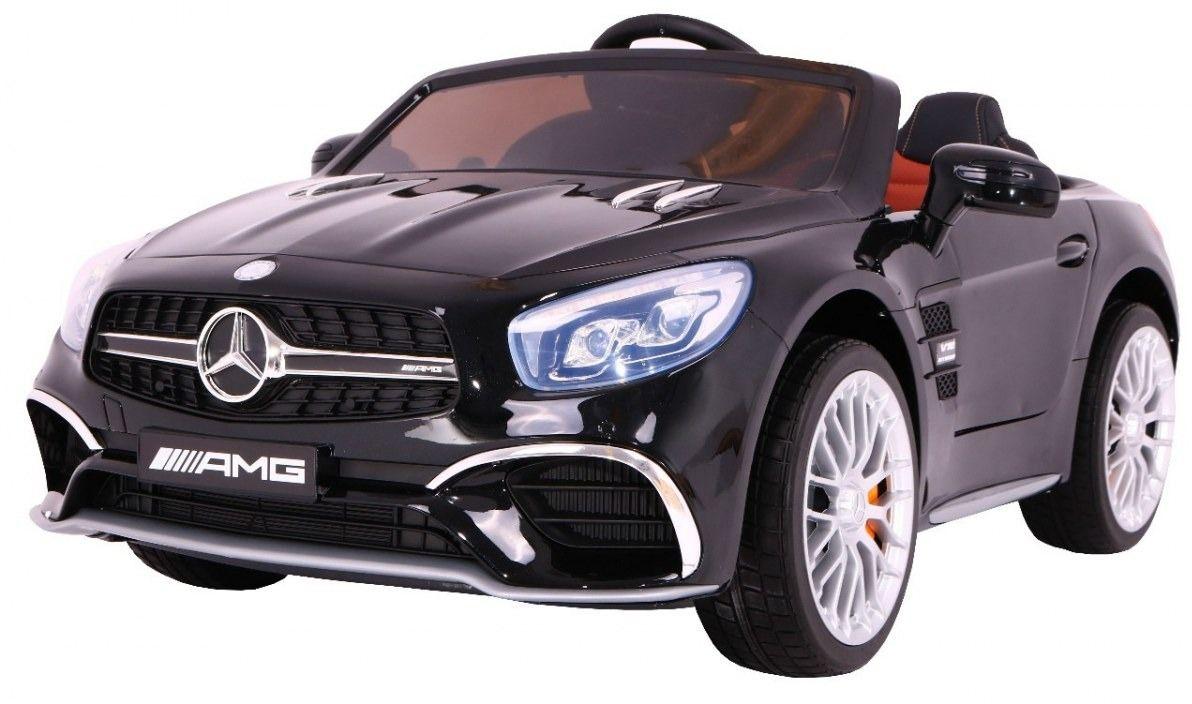 Duży samochód na akumulator mercedes sl65 amg czarny