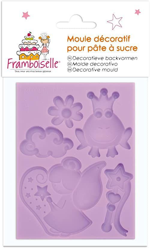 framboiselle fra8929 forma do pieczenia ciasta, cukierniczka, wróżka, silikonowa, fioletowa, 8 x 6 x 0,8 cm