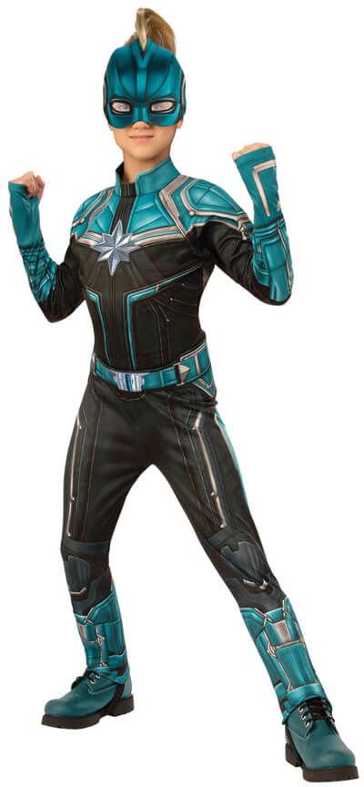 Kostium Kapitan Marvel Kree Deluxe dla dziewczynki - Roz. S