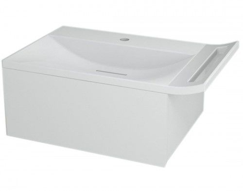 Szafka umywalkowa z syfonem 60x26x45cm, kolor biały,ZEUS
