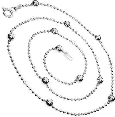 Łańcuszek srebrny do bransoletki z kulek III