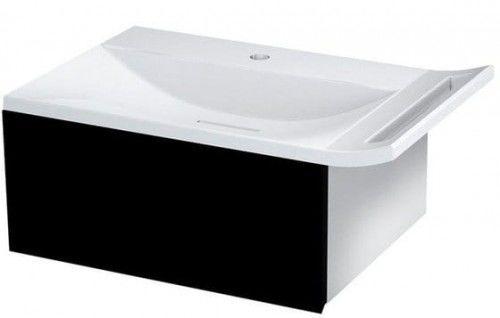 Szafka umywalkowa z syfonem 60x26x45cm czarna/titan alu,ZEUS
