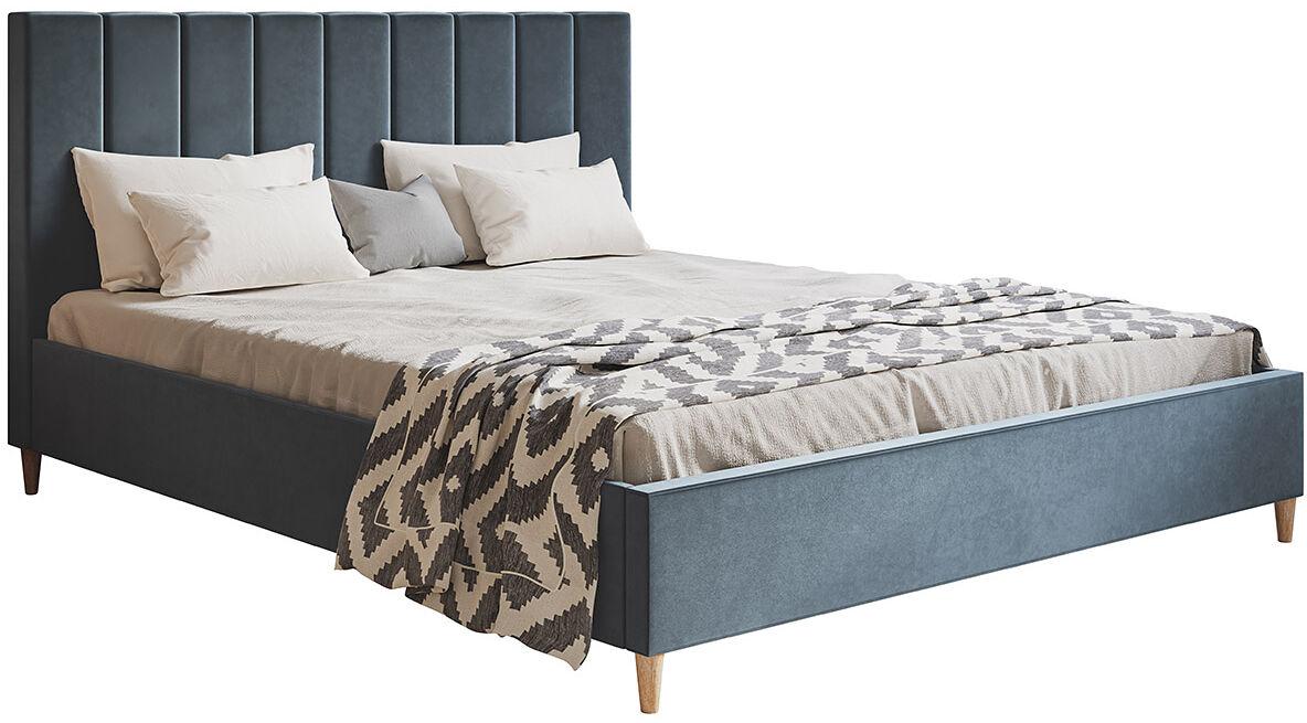 Pojedyncze łóżko tapicerowane 120x200 Diuna - 48 kolorów