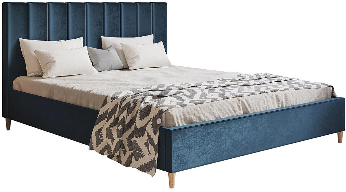 Podwójne łóżko tapicerowane 140x200 Diuna - 48 kolorów