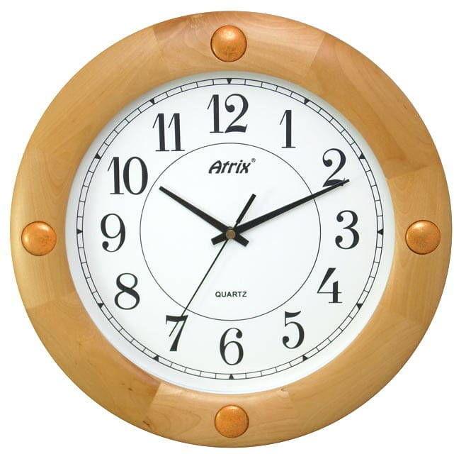 Drewniany zegar ścienny Atrix TW1236A SW 32,5 cm