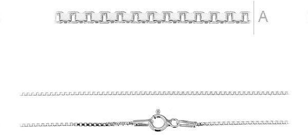 Łańcuszek srebrny Kostka wenecjana