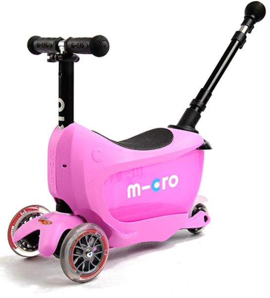 Micro Mini2go Deluxe Pink różowa jeździk+hulajnoga MMD033