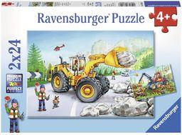"""Ravensburger 78028 Puzzle""""Koparka i traktor leśny"""" (2 x 24 sztuki)"""