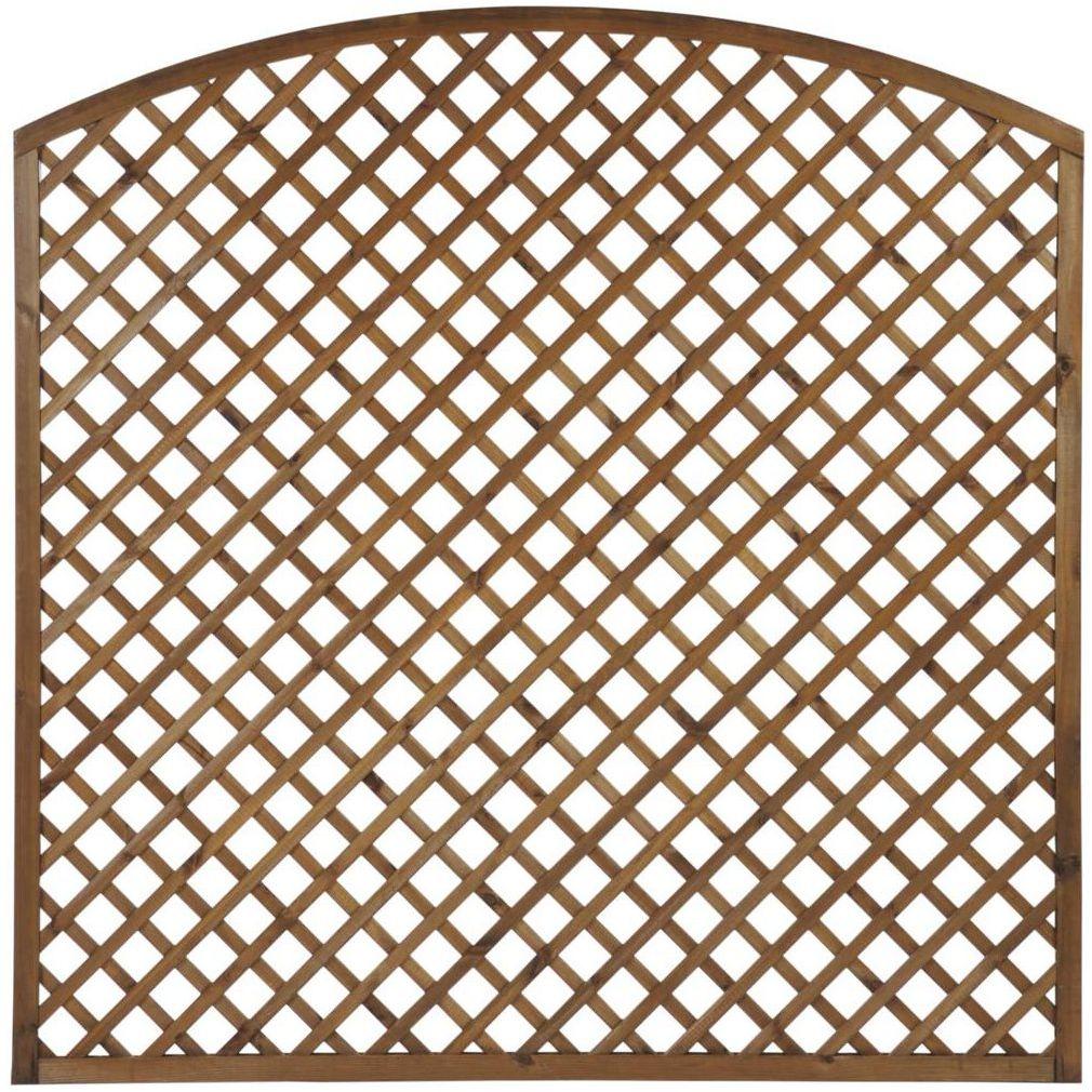 Płot kratkowy z łukiem 180x180 cm drewniany NIVE NATERIAL