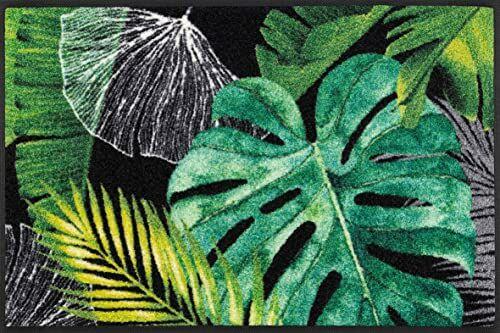 wash + dry Designerska wycieraczka z poliamidu, zielona, 50 x 75 cm