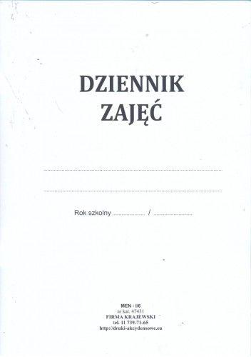 Dziennik zajęć pozalekcyjnych [Men-I/6]