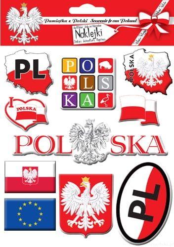 Naklejki wypukłe - Polska 01
