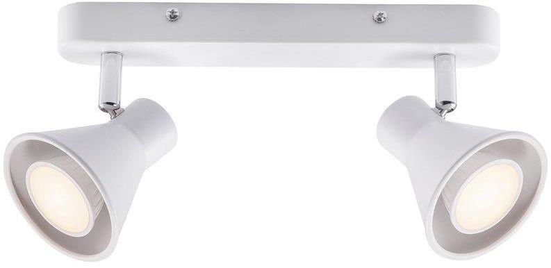 Listwa sufitowa Eik 45770101 Nordlux biała podwójna oprawa w minimalistycznym stylu