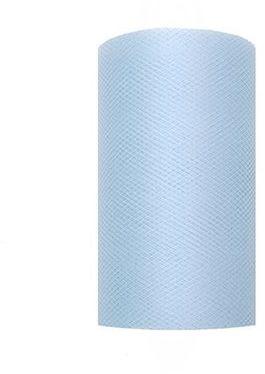 Tiul dekoracyjny błękitny 8cm x 20m 1 rolka TIU8-011