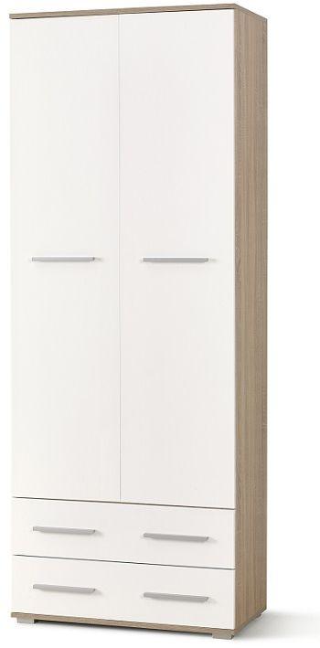 Szafa SUCRE II 77x40x200 dąb sonoma-biała