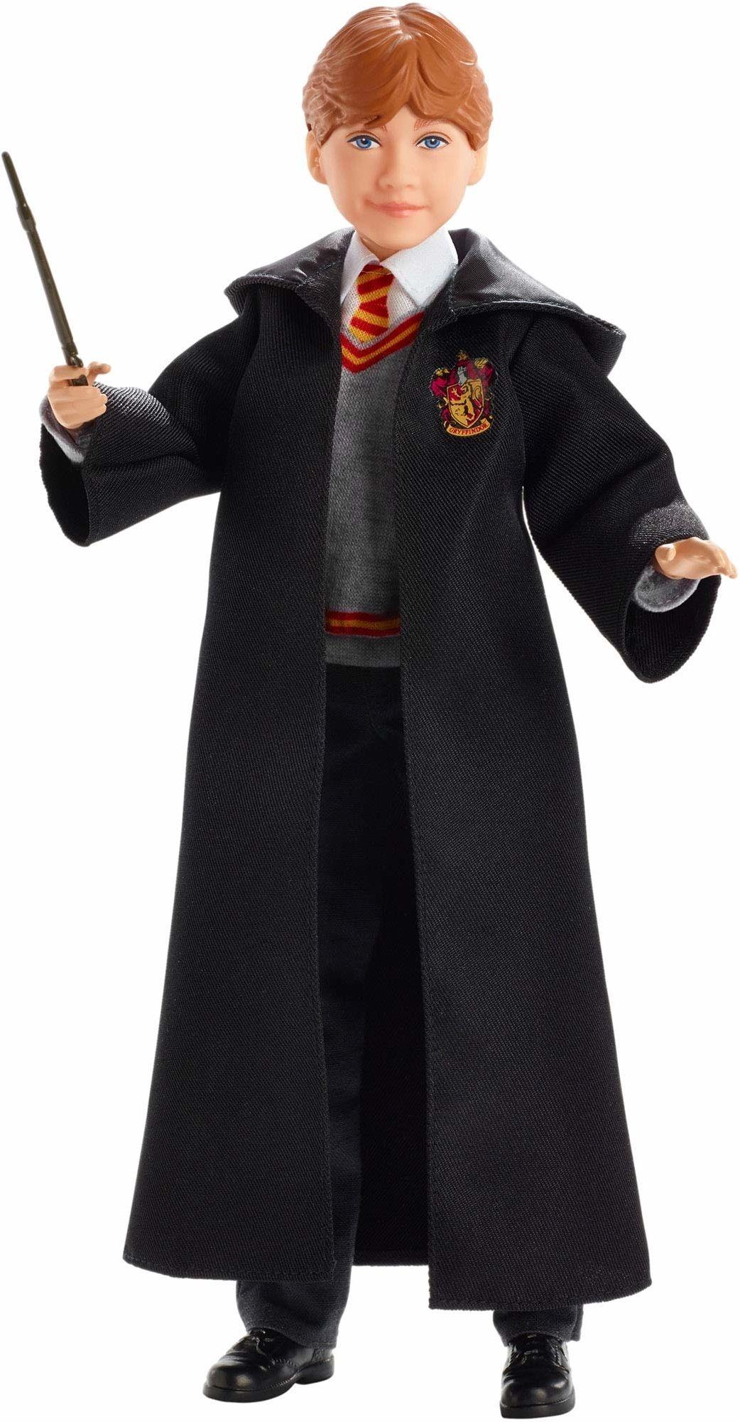 Harry Potter, Ron Weasley Lalka Kolekcjonerska (Wysokość: 26 Cm) Z Mundurkiem Hogwartu, Szatą Gryffindoru I Różdżką FYM52