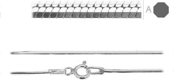 Łańcuszek srebrny do bransoletki Snake