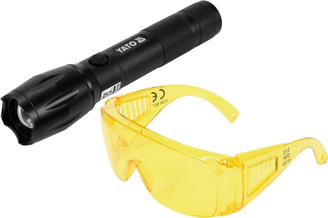 YT-08587 Latarka UV akumulatorowa 1 i okulary