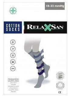 Podkolanówki przeciwżylakowe bawełniane Unisex RelaxSan 820