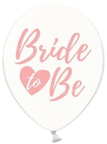 Balony Bride to be różowy nadruk 6szt SB14C-205-099P-6
