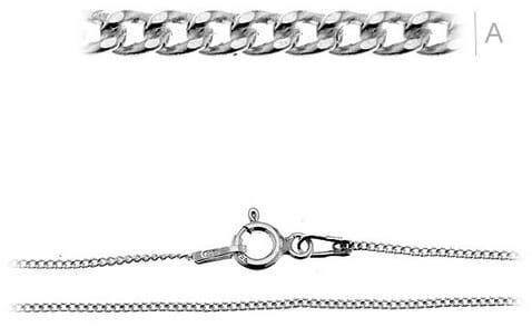 Łańcuszek srebrny do bransoletki Pancerka
