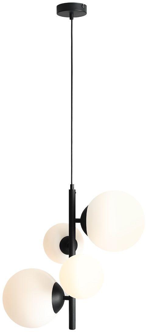 Lampa wisząca czarna BLOOM 4 1091L1 Aldex minimalistyczna oprawa zwieszana do salonu