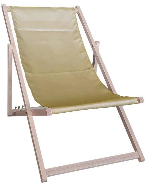 Drewniany leżak, cappuccino Swing Sunbed