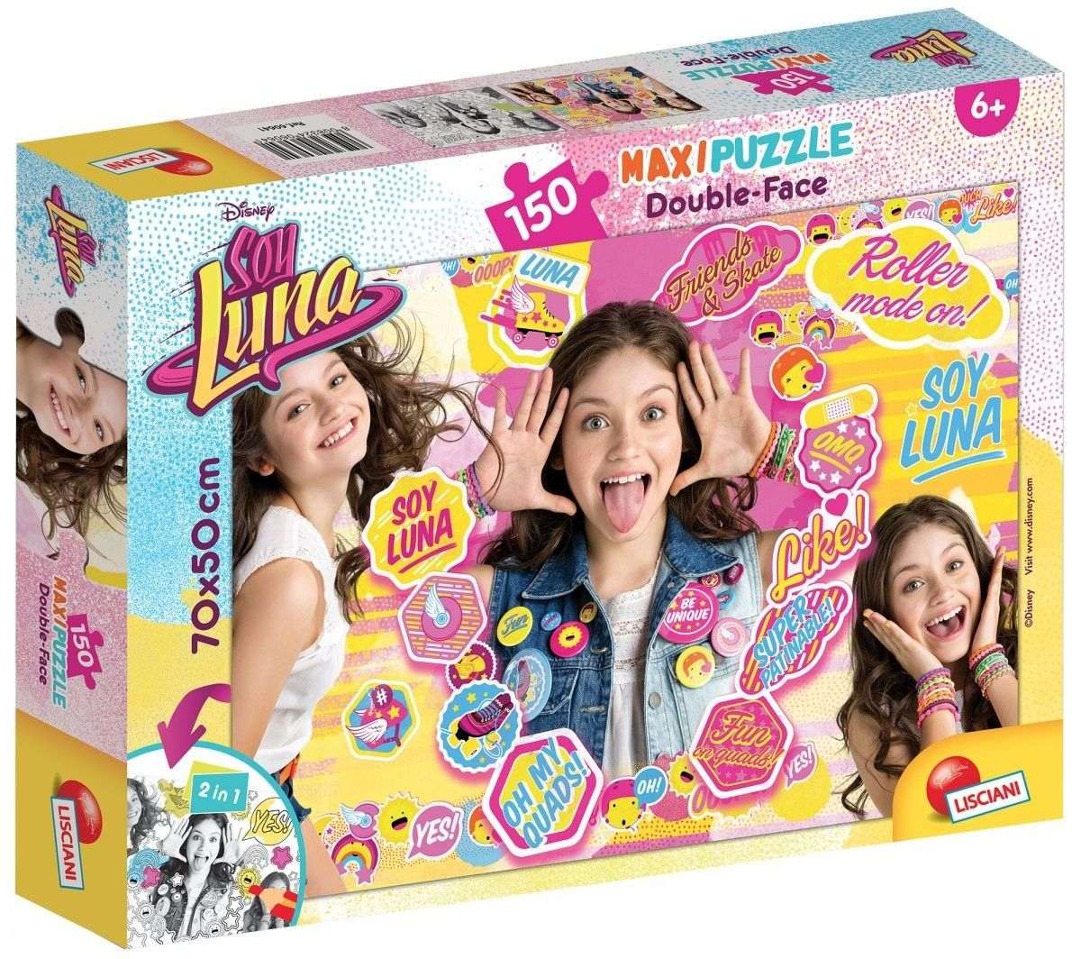 Lisciani spiele 60641  Puzzle DF Supermaxi 150 Soy Luna Roller Mode On