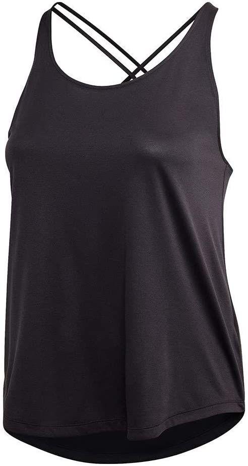 adidas Damski tank top, czarny/biały, 3 x