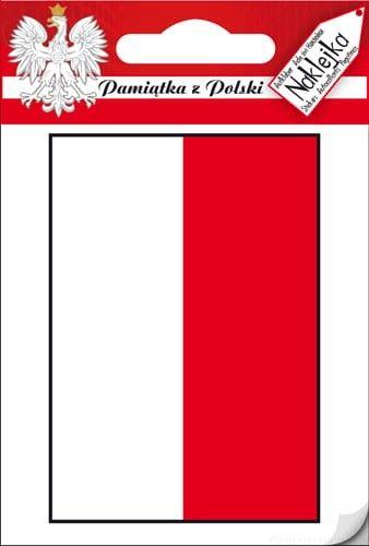 Naklejka pojedyncza Polska - Flaga