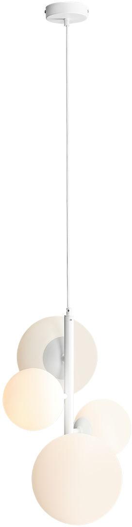 Lampa wisząca biała BLOOM 4 1091L Aldex minimalistyczna oprawa zwieszana do salonu