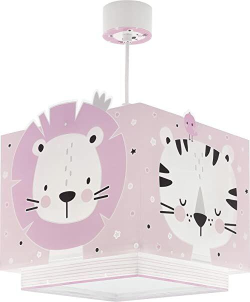 Dalber Lampa dziecięca lampa wisząca lampa wisząca Baby Jungle Jungla różowa