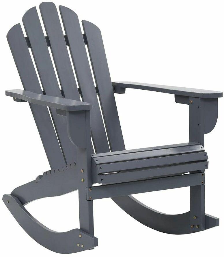 Szare bujane krzesło ogrodowe - Daron