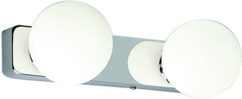Kinkiet łazienkowy Brazos 6950 Nowodvorski Lighting podwójna biała oprawa ścienna