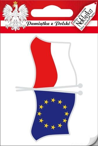 Naklejka pojedyncza - Flaga PL - UE