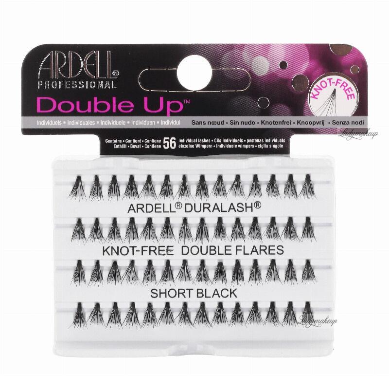 ARDELL - Double Up - Rzęsy w kępkach o zwiększonej objętości - KNOTTED-FREE - SHORT BLACK