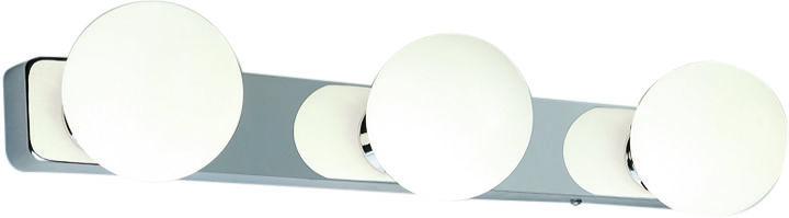 Kinkiet łazienkowy Brazos 6951 Nowodvorski Lighting potrójna biała oprawa ścienna