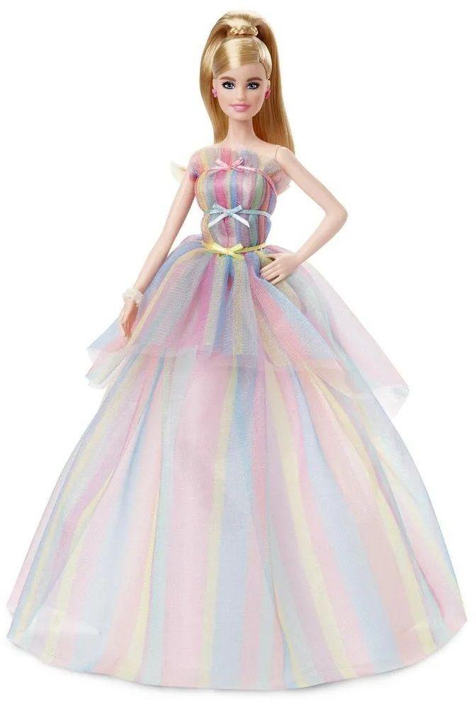 Lalka Mattel Barbie GHT42 Urodzinowa tęczowa