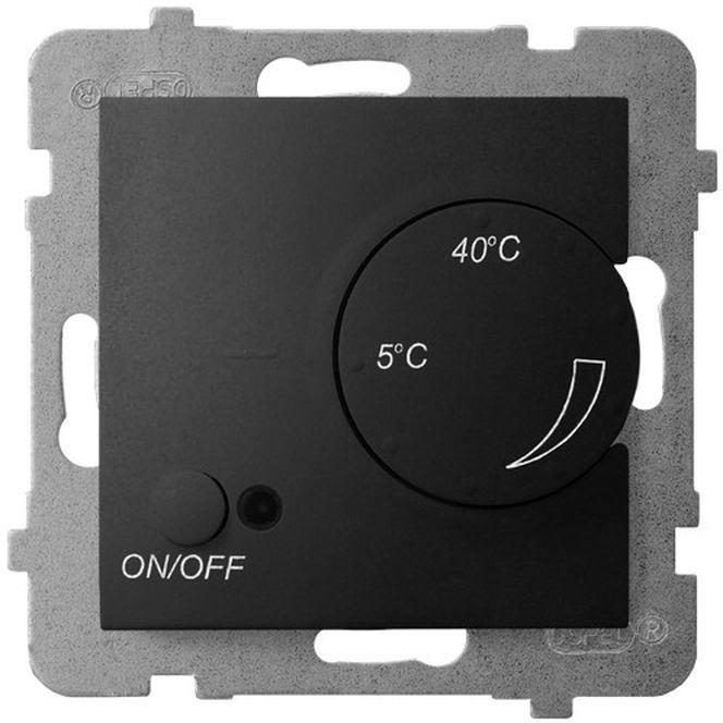 ARIA Regulator temperatury z czujnikiem napowietrznym czarny metalik RTP-1UN/m/33