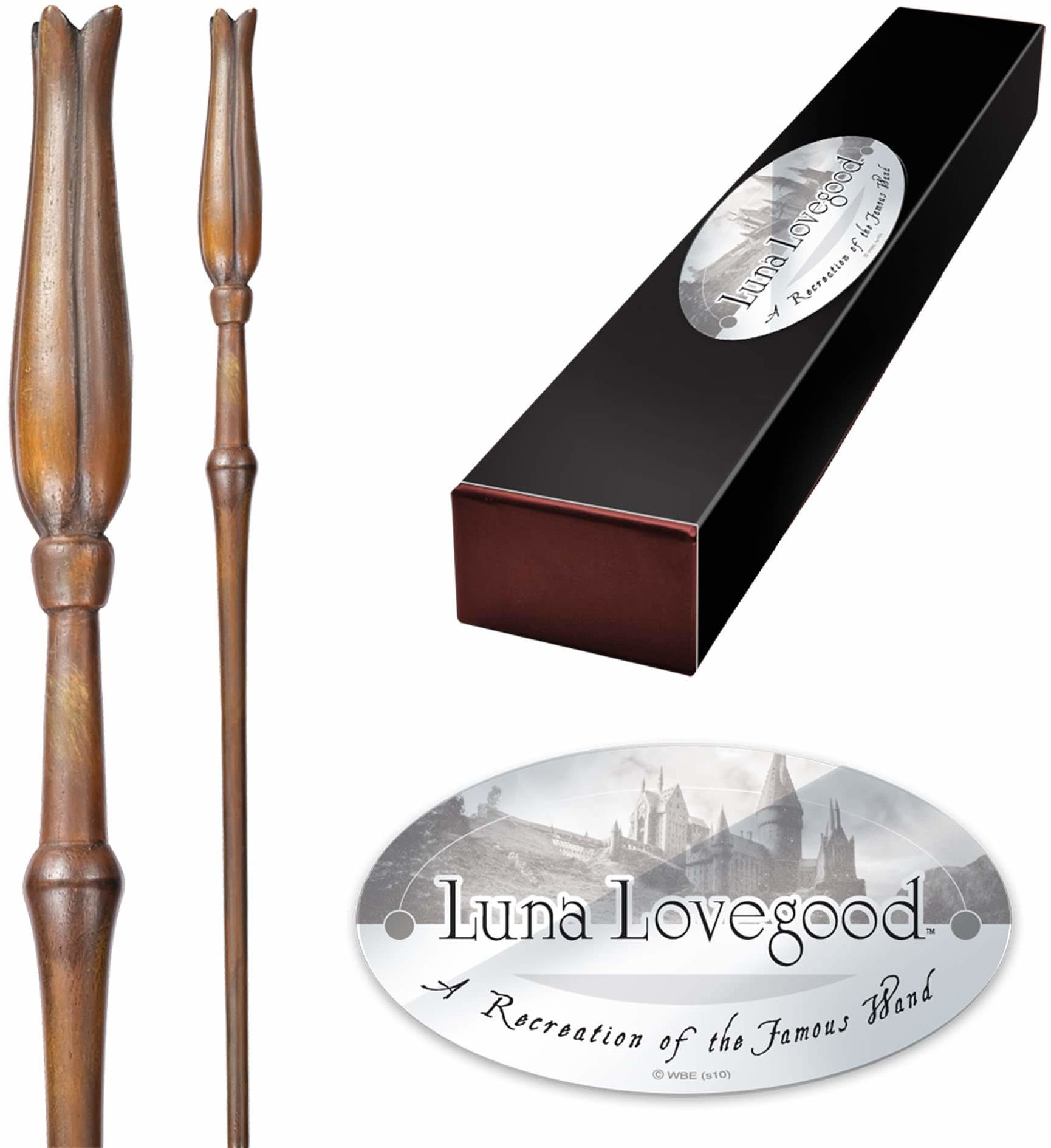 The Noble Collection - Luna Lovegood Character Wand - 13.3in (34.5cm) High Quality Harry Potter Wand With Name Tag - Harry Potter Film Set Movie Props Wands