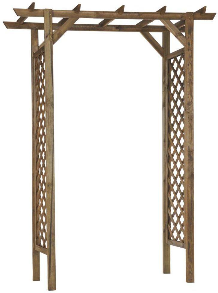 Pergola ogrodowa 157 x 58 x 213.5 cm NIVE drewniana NATERIAL