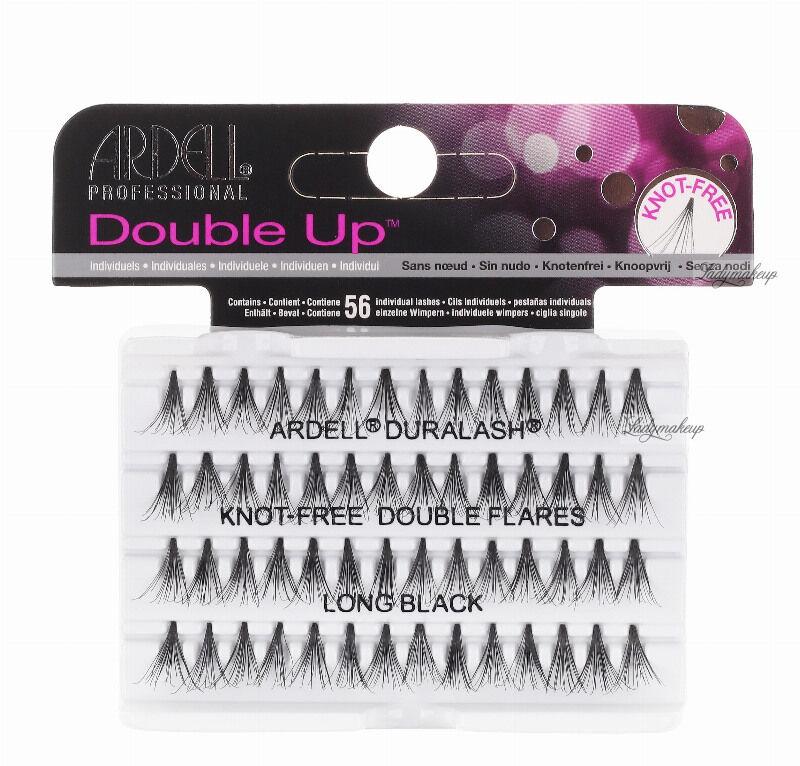 ARDELL - Double Up - Rzęsy w kępkach o zwiększonej objętości - KNOTTED-FREE - LONG BLACK