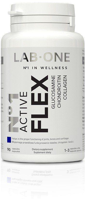Nr 1 Active FLEX Glukozamina Chondroityna Kolagen (90 kaps) Stawy Kości Lab One