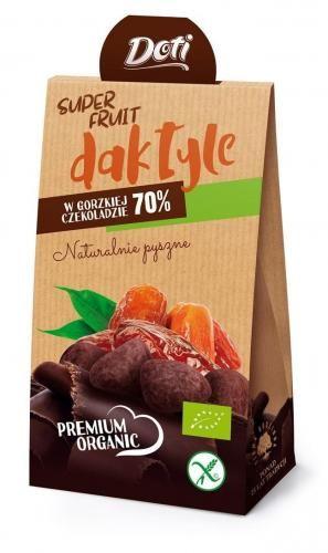 Daktyle w czekoladzie gorzkiej bezglutenowe BIO 50 g Doti