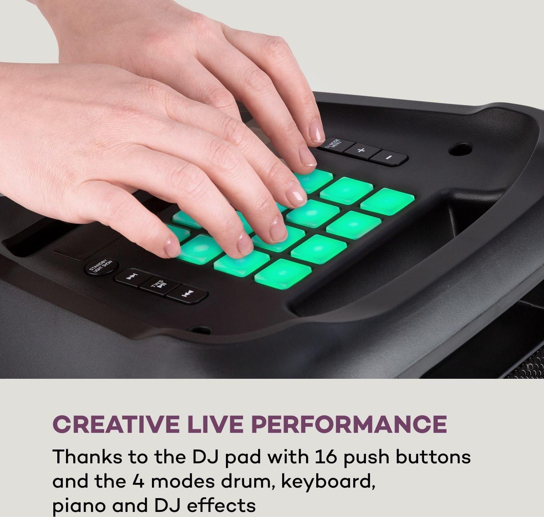 """Auna Clubmaster, głośnik DJ, maks. 120 W, 8"""" głośnik basowy, pad DJ, USB, BT line czarny"""
